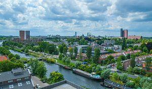 Havenbeeld: Skyline van Tilburg gezien vanuit grote hoogte