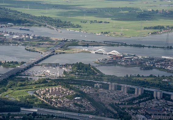 Luchtfoto IJburg Amsterdam van Marcel van Balken