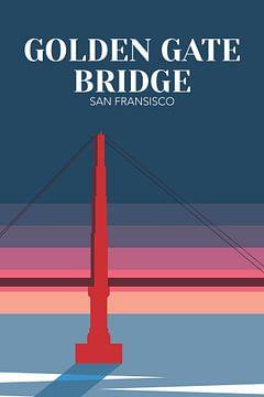 San Fransisco - Golden Gate Bridge van Walljar