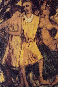 Der verlorene Sohn bei den Dirnen , Christian Rohlfs- ca 1916 von Atelier Liesjes