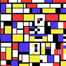 Piet Mondriaan stijl abstract en non-figuratief van Gert Hilbink