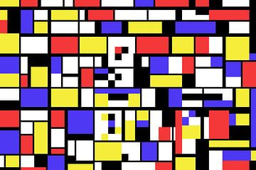 Piet Mondrian Stil abstrakt und nicht-figurativ von Gert Hilbink