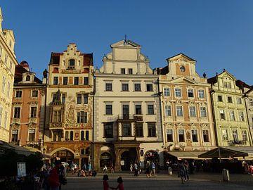 Old Town Square à Prague avec la dernière lumière du soir sur Tineke Laverman