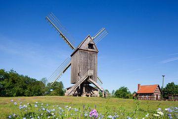 Bockwindmühle, Wehe, Rhaden, Oost-Westfalen-Lippe, Noordrijn-Westfalen, Duitsland, Europa