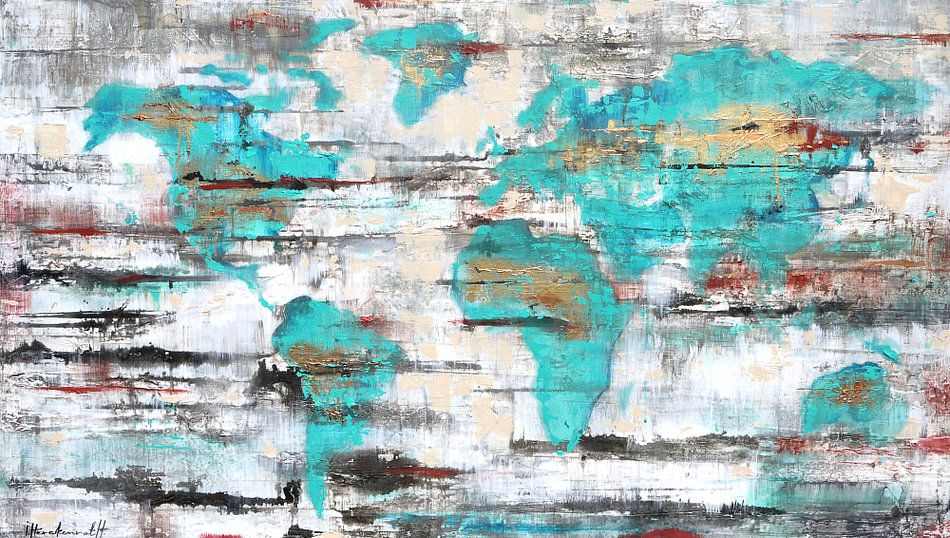 Worldmap van Paint- Ing