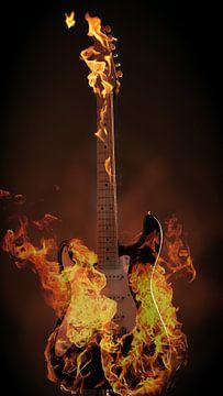 Burning guitar von Andreas Berheide