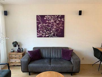 Kundenfoto: Mandelblüte von Vincent van Gogh (Aubergine)