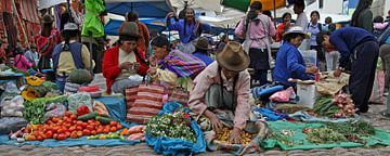 Markt in Pisac van Antwan Janssen