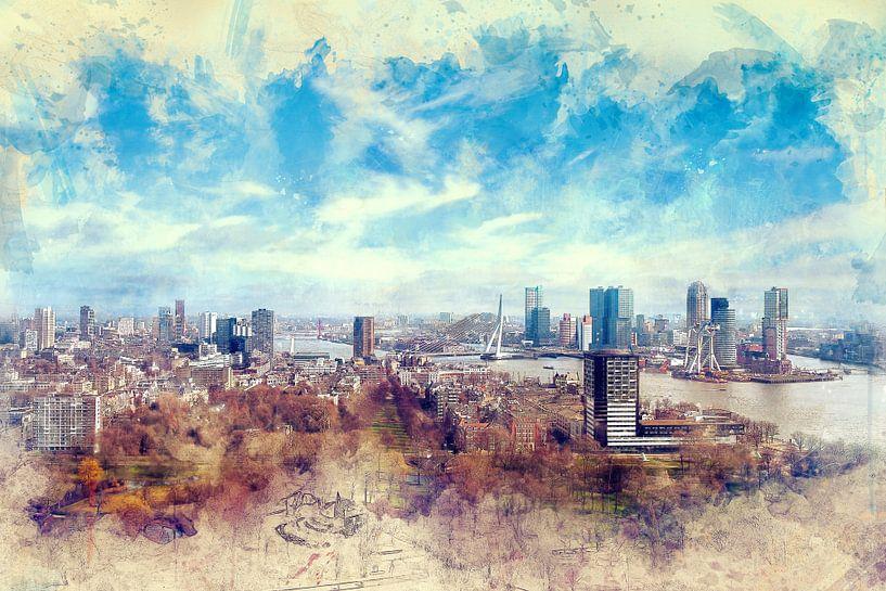 Herfst in Rotterdam van Arjen Roos
