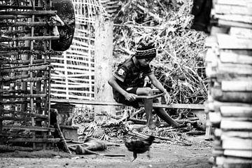 Khmu stam in Laos van Ilse De Pourcq