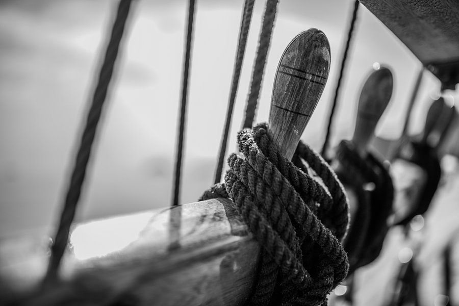 ropes ready to be released van Robin Smit