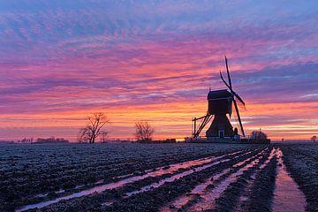Fraaie zonsopkomst bij de molen van Halma Fotografie