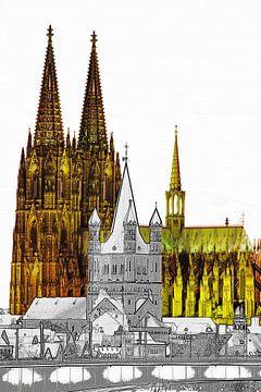 cologne dom en st. martin van Stefan Havadi-Nagy