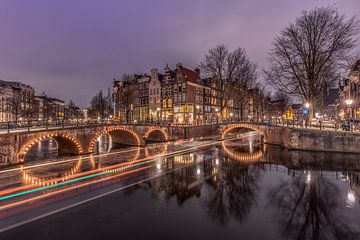 Keizersgracht Amsterdam pendant la soirée. sur Dennisart Fotografie