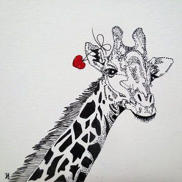 HeartFlow Giraffe von Helma van der Zwan