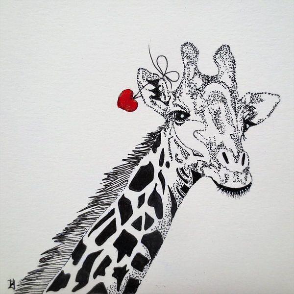 HeartFlow Giraffe van Helma van der Zwan