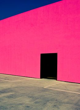 Shocking Pink Muur, David Jordan Williams van 1x