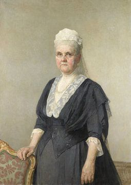 La reine Emma, veuve du roi Guillaume III, Jan Veth sur