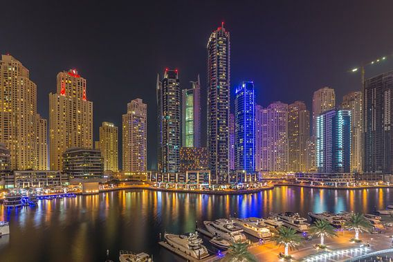 Dubai by Night - Dubai Marina - 1 van Tux Photography