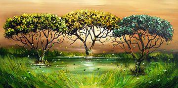 Green Nature van Gena Theheartofart
