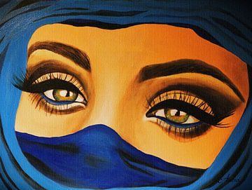 Tuareg - Sehnsucht  von Iwona Sdunek alias ANOWI