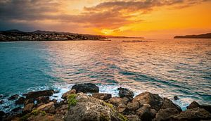 Crete sunset van Wim van D
