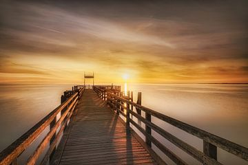 Boltenhagen-pier naar de zonsopgang van Fine Art Fotografie