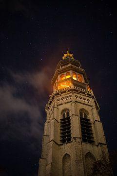 Lange Jan tijdens Nacht van de Nacht von Marcel Klootwijk