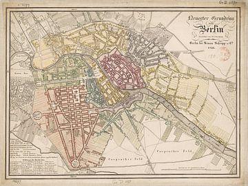 Oude stadsplattegrond van Berlijn,1826 van Atelier Liesjes