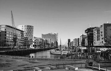 Hanzestad Hamburg Sandtorhafen van Ursula Reins