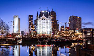Blaue Stunde alter Hafen von Rotterdam von Midi010 Fotografie