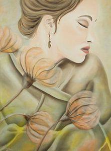 Romantic lady portret
