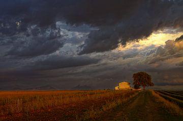 Ciel d'orage sur le cabanon von Georges Rudolph