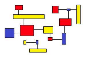 Mondrianoïde 7 van Henk-Jan van Tuyl