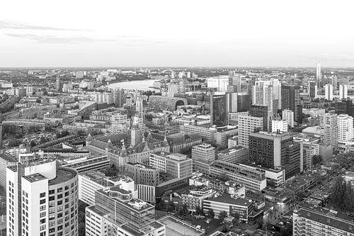 Het geweldige uitzicht op de skyline van Rotterdam