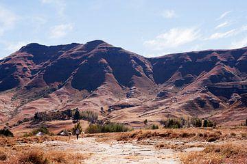 Lesotho ongerept landschap van