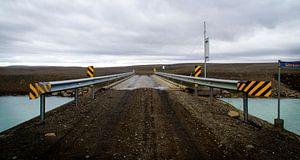 Brug over rivier in IJsland