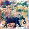 The Elephants Journey van Andrea Haase thumbnail
