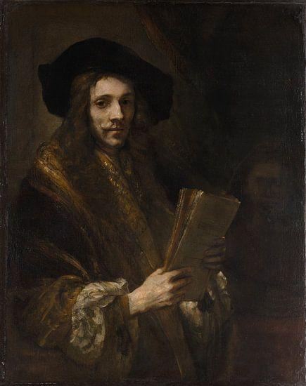 Portret van een Man ( 'de veilingmeester'), volger van Rembrandt