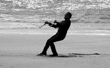 Drachenfliegen am Strand von MSP Canvas