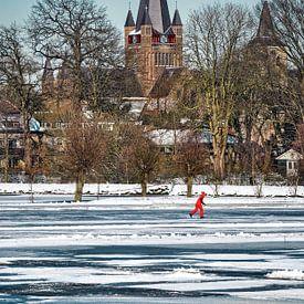 Schaatsen in de winter van Chihong