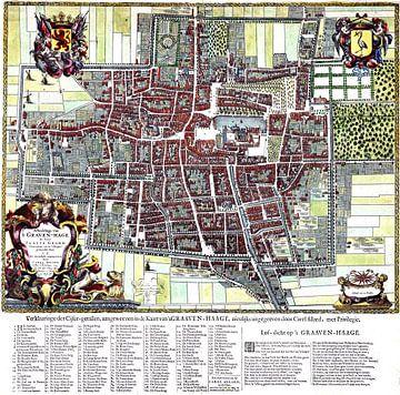 Kaart van Den Haag uit 1666 van Atelier Liesjes