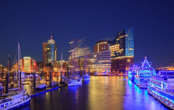 Hamburg Hafenlichter van Werner Reins