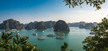 Panorama Halong Bucht, Vietnam von Rietje Bulthuis