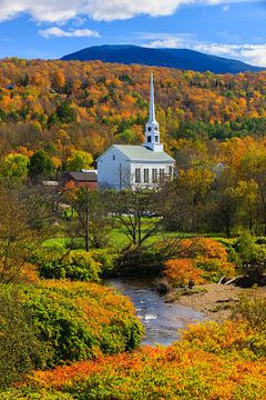 Herfst in Stowe, Vermont van Henk Meijer Photography