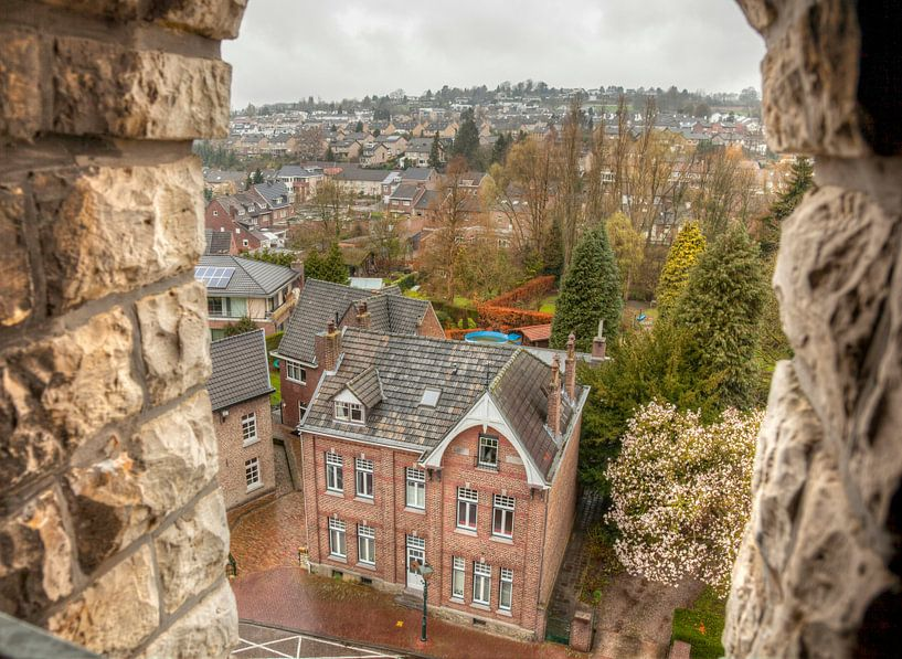 Uitzicht vanaf de Sint-Remigiuskerk in Simpelveld van John Kreukniet