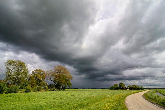 Stormlucht boven Kampereiland van Sjoerd van der Wal