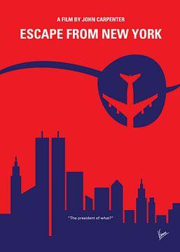 No219 My Escape from New York minimal movie poster van Chungkong Art
