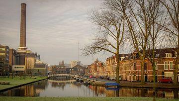 Gasfabriek aan de Maresingel in Leiden van Dirk van Egmond