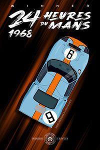 Winnaar 24 Heures du Mans 1968 van Theodor Decker